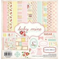 Набор бумаги Baby mine Girl, Carta Bella, 30х30см