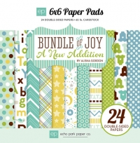 Набор бумаги Bundle of Joy New Addition Boy от Echo Park, 15х15см