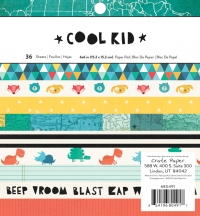 Набор бумаги Cool Kid, Crate Paper, 15х15см