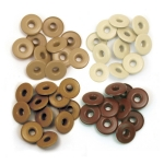 Люверсы Wide Eyelets – Aluminum Brown, 40 шт