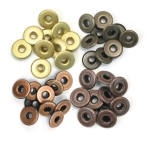 Люверсы Wide Eyelets – Aluminum Copper Warm Metal, 40 шт