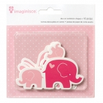 Высечки My Baby Bunnies & Elephants, Imaginisce